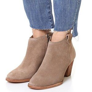 Madewell The Billie BootIe Suede Tan Sz 7.5